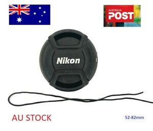 Camera Lens Cap - 52, 55, 58, 62, 72, 77, 82mm Replacement for Nikon