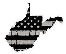 West Virginia State (N48) Distressed Flag Vinyl Decal Sticker Car/Truck Laptop