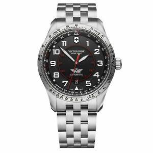 Victorinox Swiss Army Airboss Mechanical Black Dial Steel Bracelet Men 241888