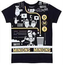 Czarna koszulka Gru, Dru i Minionki
