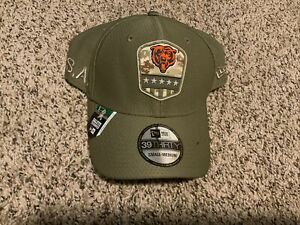 Chicago Bears Salute to Service New Era 39Thirty 2019 Hat Men's Size: S/M*Damage