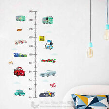 Disney Cars Height Chart Kids Wall Stickers Decal Nursery Decor Gift Art Mural