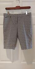 White House Black Market geometric pattern bermuda shorts