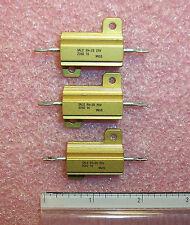 QTY (3) RH25-20K-1 DALE 20K Ohm 25W 1% ALUMINUM HOUSED CHASSIS MOUNT RESISTORS