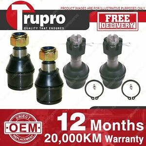 4 Pcs Lower+upper Ball Joints for FORD F Ser 4WD inc BRONCO F250 4WD 99-04