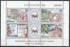 Spanien Block 21 postfrisch Internationale Briefmarkenausstellung ESPAMER'80