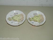 2 Vintage Roslyn Fine Bone China South Wales Saucer 16968