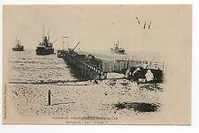 MADAGASCAR TAMATAVE colonie française le WHARF bateau port ponton carte 1900