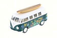 1962 Volkswagen Bus w/ Surfboard, Green, Kinsmart 5060DS, 1/32 Scale Diecast