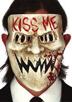 Hombre Horror Kiss Me Máscara Halloween Película Disfraz Accesorio Traje