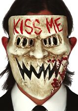 Mens Horror Kiss Me Mask Scary Halloween Film Fancy Dress Costume Accessory