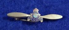 New ListingWwii / Ww2 Royal Canadian Air Force, Enameled Lapel Pin, Kings Crown, Pin-Back,