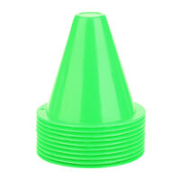10pcs Soccer Training Cone Football Barriers Plastic Marker Holder Tools Set New