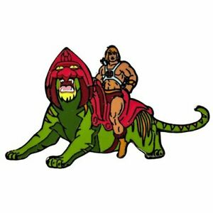 HE-MAN ON CAT New Collectables: Masters of the Universe Favourite Enamel Pin