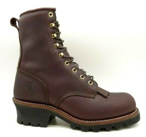 """Chippewa 8"""" Redwood Insulated Logger 73025 Leather Kilt Lace Up Boots Men's 9 M"""