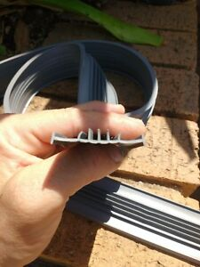 5m Gliderol Garage Door Weather Seal Bottom Rubber PVC Strip Aus Post