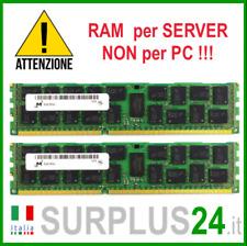 Kit RAM 32GB (2x16GB) MICRON 2Rx4 PC3L-12800R 1600MHZ DDR3 ECC REG SERVER