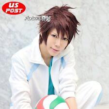 Haikyuu!! Oikawa Tooru Brown Short Straight Hair Unisex Anime Party Cosplay Wig
