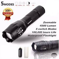 SkyWolfeye Flashlight Tactical Military Grade LED Light Torch XM Zoom Style Lamp