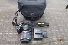 NIKON D3100 14.2MP DIGITAL SLR CAMERA W/18-55MM LENS BATTERY CHARGER CASE