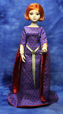 Royal Purple doll dress FM Guinevere Medieval Camelot Gown fits 16in Ellowyne