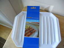 NEW COOKING CONCEPTS MICROWAVEABLE BACON RACK NWT 10 X 8