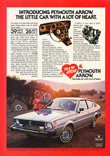 1977 Plymouth Arrow - heart -  Classic Vintage Advertisement Ad A68-B