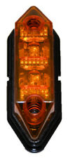 MLW2L 12VDC AMBER YELLOW Marker Clearance Light 2 LED WATERPROOF Truck Trailer