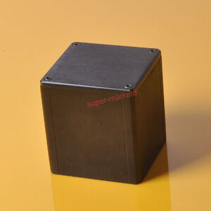 1pc 84x80x91mm Black Aluminum Transformer Cover Protect Chissis Enclosure Case