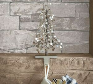 Faceted Glass Mirror Tree Festive Christmas Stocking Holder By Pottery Barn