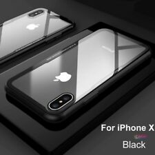 For iPhone X/7 8 Plus CHROME Hybrid 360 New Shockproof Case Tempered GLASS Cover