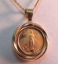 "22k Solid Gold 2002 $5.00 Eagle Necklace, 16"" Long  SALE-SAVE $700.   #741"