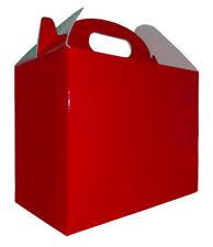 10 x RED GABLE GIFT BOXES - Christmas Box, XMAS Gift Bags, Gift Hamper Baskets
