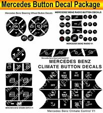07-14 Mercedes Benz PEELING BUTTON Package Steering AC Window Decals Stickers