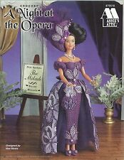 A NIGHT AT THE OPERA ~ Annie's Attic Fashion Doll Clothes Crochet Pattern Barbie