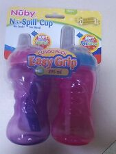 NUBY EASY GRIP NO SPILL CUP COMBO PACK BPA FREE