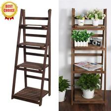 4 Tier Ladder Shelf Home Display Unit Bookcase Stand Plant Flower Book Shelves