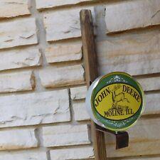 John Deere Hit and Miss Engine Motor Logo Emblem Miniature Wall or Post Sign