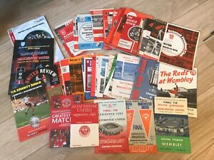 50+ Manchester United football programmes 1950s 60s 70s homes aways specials