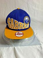 Vintage Collection Buffalo Sabres Blue Yellow 9Fifty Snapback Cap NHL Hockey Hat