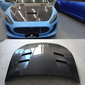 Carbon Fiber Engine Bonnet Hood Cover Fit for Maserati Gran Turismo 2D 2008-2013