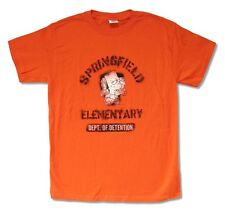 The Simpsons Springfield Elementary Dept of Detention Men's Orange T Shirt M