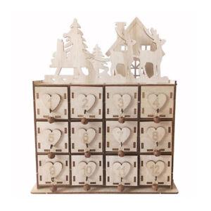 Jewelry Box Crafts Wooden Heart Advent Calendar Christmas Home Decor Handmade