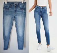 American Eagle Jegging Jeans Medium Light Wash Women's Size 6 HW6318