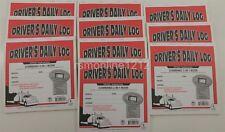 Lot of 10 JJ Keller 8541 (615L) 2-In-1 Driver's Daily Log Book w/Simplified DVIR