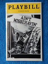 Ain't Misbehavin' - Plymouth Theatre Playbill - May 1980 - Teresa Bowers