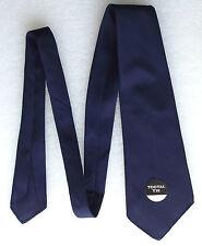 Vintage 1950s Tootal tie plain navy blue UNUSED Red Quality Tebilized Cotton