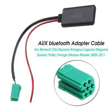 AUX Cable Adapter Radio bluetooth Stereo For Renault Clio Kangoo Megane Scenic