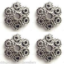 40 Antique Silver 12mm Tibetan Silver Bead Caps