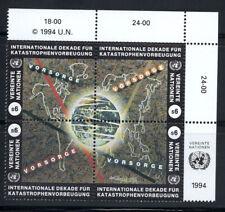 ONU Vienna 1994 Mi. 170-173 Nuovo ** 100% Mappa mondo